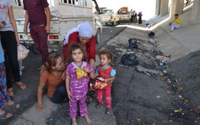 Hulptransporten naar Noord Irak